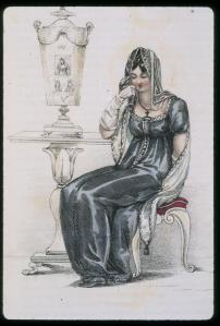 Mourning clothing continued to be a way for mourners to externally show their grief.
